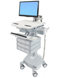 Ergotron SV44-1292-C multimedia cart/stand Aluminium, Grey, White Flat panel Ergotron SV44-1292-C - 1