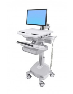 Ergotron StyleView White Flat panel Multimedia cart Ergotron SV44-12A2-2 - 1