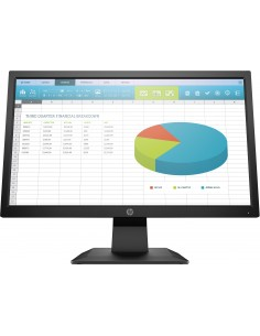 "HP P204 49.5 cm (19.5"") 1600 x 900 pikseliä HD+ LED Musta Hp 5RD65AA#ABB - 1"
