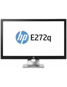 "HP EliteDisplay E272q 68.6 cm (27"") 2560 x 1440 pikseliä Quad HD LED Musta, Hopea Hp M1P04AA#ABB - 1"