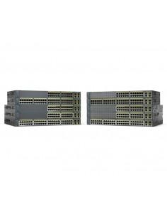 Cisco Catalyst WS-C2960+24PC-S nätverksswitchar hanterad L2 Fast Ethernet (10/100) Strömförsörjning via (PoE) stöd Svart Cisco W