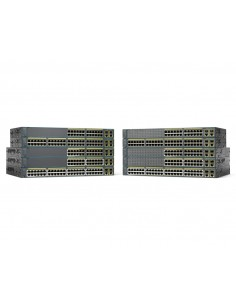 Cisco Catalyst WS-C2960+24PC-S network switch Managed L2 Fast Ethernet (10/100) Power over (PoE) Black Cisco WS-C2960+24PC-S - 1
