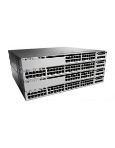 Cisco Catalyst WS-C3850-48T-E verkkokytkin Hallittu Musta, Harmaa Cisco WS-C3850-48T-E - 1