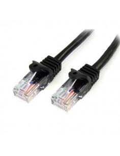 StarTech.com 45PAT50CMBK networking cable Black 0.5 m Cat5e U/UTP (UTP) Startech 45PAT50CMBK - 1