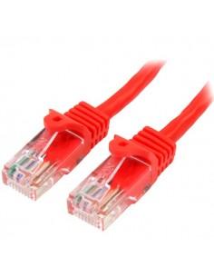 StarTech.com Cat5e Ethernet patchkabel med hakfria RJ45-kontakter - 0.5 m, Röd Startech 45PAT50CMRD - 1
