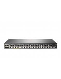 Hewlett Packard Enterprise Aruba 2930F 48G PoE+ 4SFP+ Hallittu L3 Gigabit Ethernet (10/100/1000) Power over -tuki 1U Harmaa Hp J
