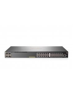 Hewlett Packard Enterprise Aruba 2930F 24G PoE+ 4SFP+ TAA hanterad L3 Gigabit Ethernet (10/100/1000) Strömförsörjning via (PoE)