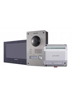 "Hikvision Digital Technology DS-KIS701 video intercom system 2 MP 17.8 cm (7"") Black, Metallic, White Hikvision DS-KIS701 - 1"