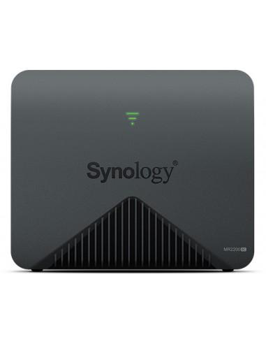 Synology MR2200AC wireless router Gigabit Ethernet Dual-band (2.4 GHz / 5 GHz) 3G 4G Black Synology MR2200AC - 1