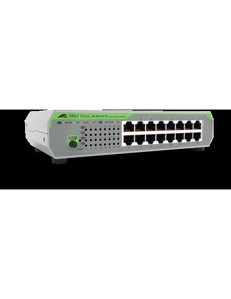 Allied Telesis AT-FS710/16-50 Ohanterad Fast Ethernet (10/100) 1U Grön, Grå Allied Telesis AT-FS710/16-50 - 2