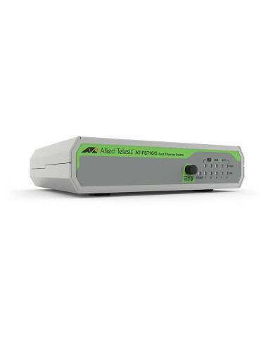 Allied Telesis FS710/5 Hallitsematon Fast Ethernet (10/100) Vihreä, Harmaa Allied Telesis AT-FS710/5-50 - 1
