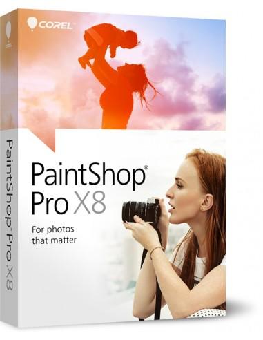 Corel PaintShop Pro X8, CORP, UPG, 1-4U Päivitys Monikielinen Corel LCPSPX8MLUG1 - 1