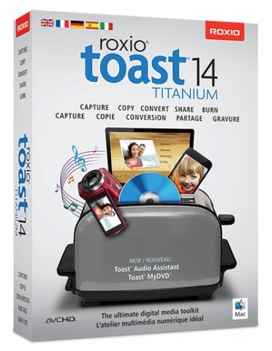 Corel Toast 14 Titanium, ML, 5-50U, Mac Monikielinen Corel LCT14TML1 - 1