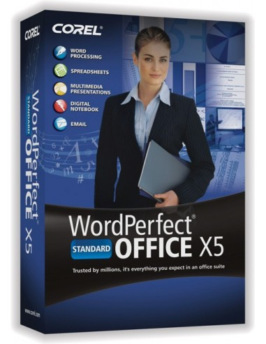Corel WordPerfect Office X5 Standard, 501-1000u, UPG, ENG Englanti Corel LCWPX5MLUGH - 1