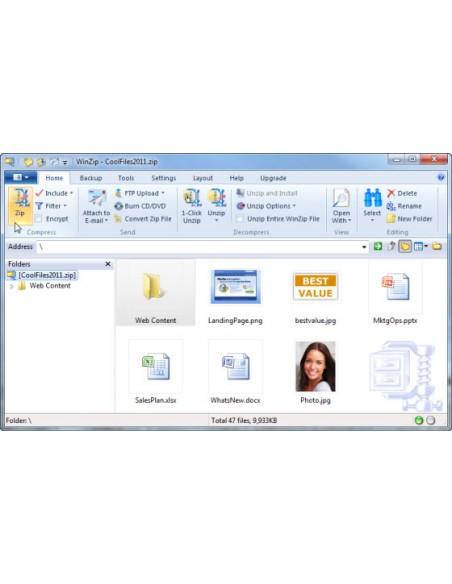Corel WinZip 15 Pro, 2-9U, EN Corel LCWZ15PROENA - 2