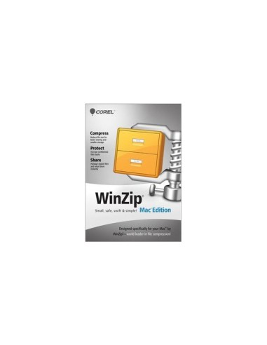Corel WinZip Mac Edition, 100000+u, 1Y, MNT Corel LCWZMACENMNT1N - 1