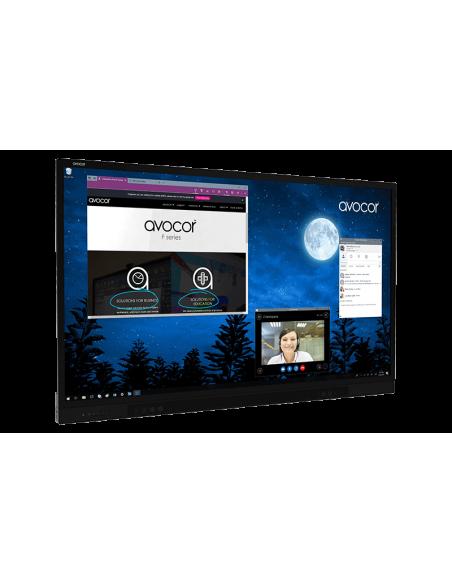 """Avocor F8650 2.18 m (86"""") LED 4K Ultra HD Kosketusnäyttö Interaktiivinen litteä paneeli Musta Avocor F-8650 - 2"""