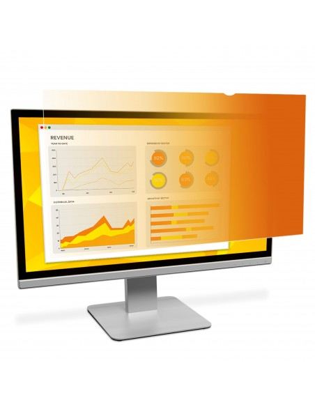 """3M Gold Privacy Filter for 21.5"""" Widescreen Monitor 3m 7100095965 - 1"""