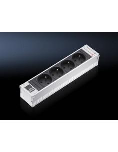 Rittal DK 7856.120 jatkojohto 4 AC-pistorasia(a) Sisätila Musta, Valkoinen Rittal 7856120 - 1
