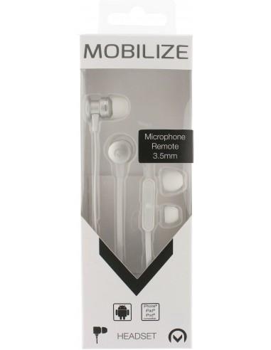 Mobilize MOB-21338 kuulokkeet ja kuulokemikrofoni In-ear Hopea, Valkoinen Mobilize MOB-21338 - 1