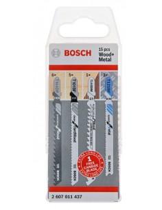 Bosch 2 607 011 437 jigsaw/scroll saw/reciprocating saw blade Jigsaw 15 pc(s) Bosch 2607011437 - 1