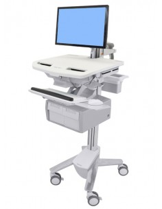 Ergotron StyleView Grey, White Flat panel Multimedia cart Ergotron SV43-12C0-0 - 1