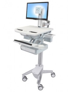 Ergotron StyleView Aluminium, Grey, White Flat panel Multimedia cart Ergotron SV43-1310-0 - 1