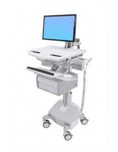 Ergotron StyleView White Flat panel Multimedia cart Ergotron SV44-12C2-2 - 1