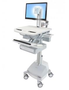 Ergotron StyleView Aluminium, Grey, White Flat panel Multimedia cart Ergotron SV44-1311-2 - 1