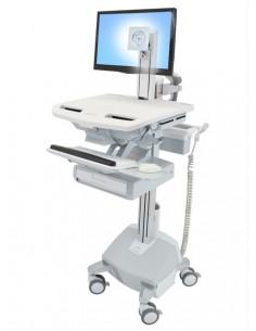Ergotron StyleView Aluminium, Grey, White Flat panel Multimedia cart Ergotron SV44-1312-2 - 1