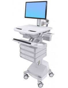 Ergotron SV44-1331-C multimedialaitteiden kärry ja teline Alumiini, Harmaa, Valkoinen Litteä paneeli Multimediakärry Ergotron SV