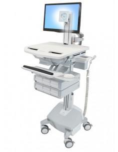 Ergotron StyleView Aluminium, Grey, White Flat panel Multimedia cart Ergotron SV44-1362-2 - 1