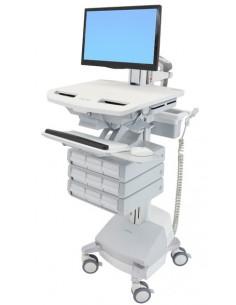 Ergotron SV44-1391-C multimedialaitteiden kärry ja teline Alumiini, Harmaa, Valkoinen Litteä paneeli Multimediakärry Ergotron SV