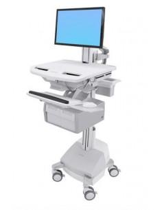 Ergotron StyleView White Flat panel Multimedia cart Ergotron SV44-13C1-2 - 1