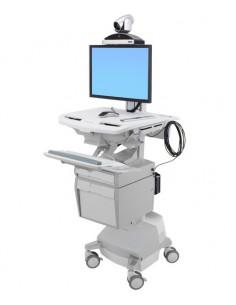 Ergotron StyleView White Flat panel Multimedia cart Ergotron SV44-53T1-2 - 1