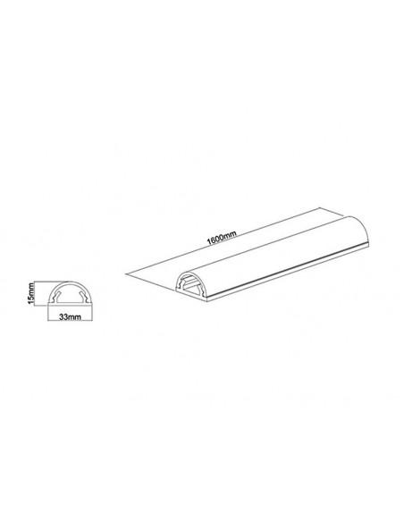 Multibrackets M Universal Cable Cover Black 33mm-W 1600-L Multibrackets 7350022731318 - 10