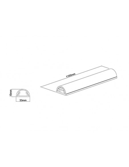 Multibrackets M Universal Cable Cover White 33mm-W 1600-L Multibrackets 7350022731325 - 10