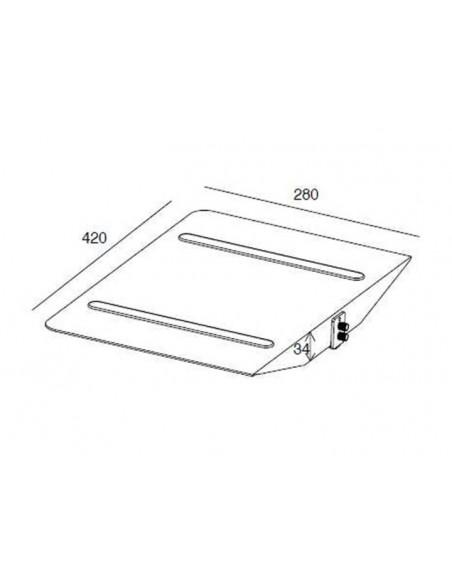 Multibrackets M Public Display Stand Shelf Black Multibrackets 7350022737600 - 7