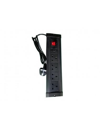 Multibrackets M Public Display Stand UK Power Rail Black Multibrackets 7350022739512 - 1