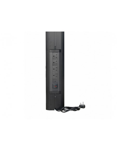 Multibrackets M Public Display Stand UK Power Rail Black Multibrackets 7350022739512 - 3
