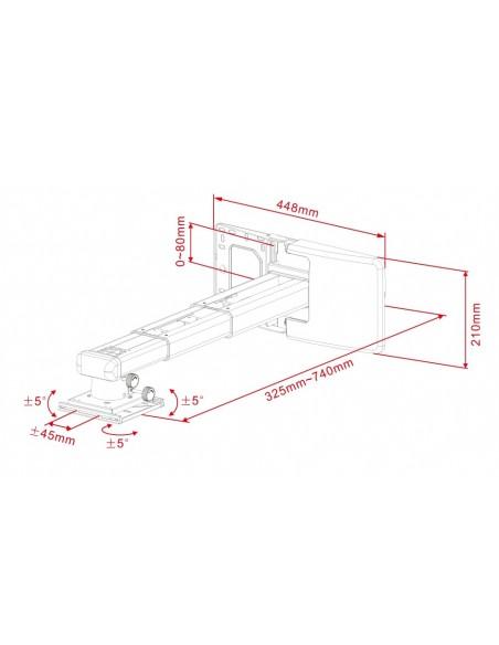 Multibrackets M Projector Mount Short Throw Deluxe 300-700 Medium Multibrackets 7350022739833 - 5