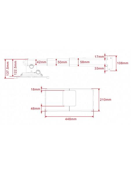 Multibrackets M Projector Mount Short Throw Deluxe 300-700 Medium Multibrackets 7350022739833 - 6