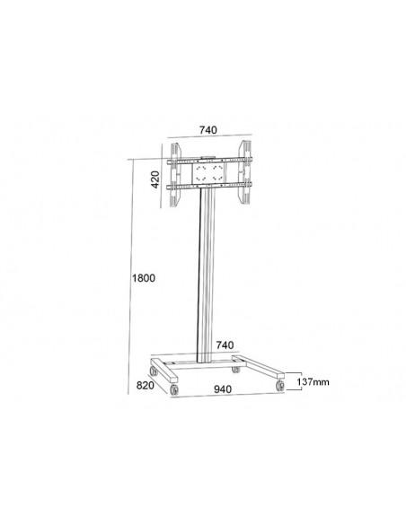 """Multibrackets 0636 kyltin näyttökiinnike 160 cm (63"""") Hopea Multibrackets 7350073730636 - 17"""
