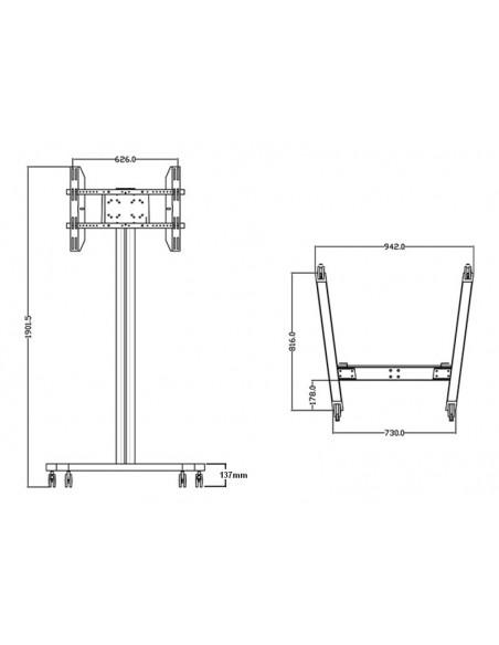 """Multibrackets 0643 kyltin näyttökiinnike 160 cm (63"""") Musta Multibrackets 7350073730643 - 18"""