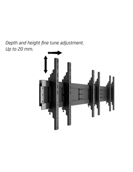 Multibrackets M Public Video Wall Stand Portrait 3-Screens 40-55'' Black Multibrackets 7350073731800 - 17