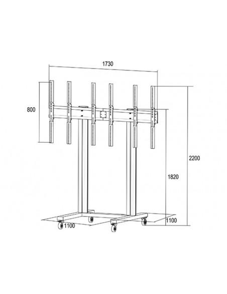 """Multibrackets 1800 kyltin näyttökiinnike 139.7 cm (55"""") Musta Multibrackets 7350073731800 - 19"""