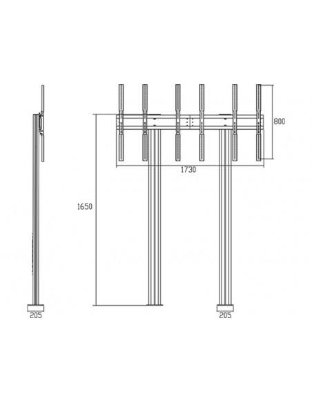 """Multibrackets 1800 kyltin näyttökiinnike 139.7 cm (55"""") Musta Multibrackets 7350073731800 - 20"""