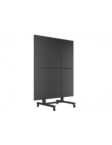 Multibrackets M Public Video Wall Stand Portrait 6-Screens 40-55'' Black Multibrackets 7350073731824 - 7