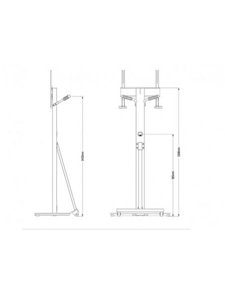 Multibrackets M Tilt & Roll Floorstand Multibrackets 7350073732364 - 8