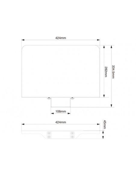 Multibrackets 2388 monitorikiinnikkeen lisävaruste Multibrackets 7350073732388 - 4